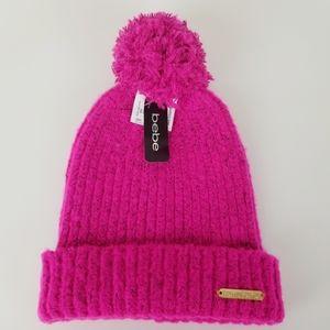 Bebe Pink Pom Pom Hat NWT